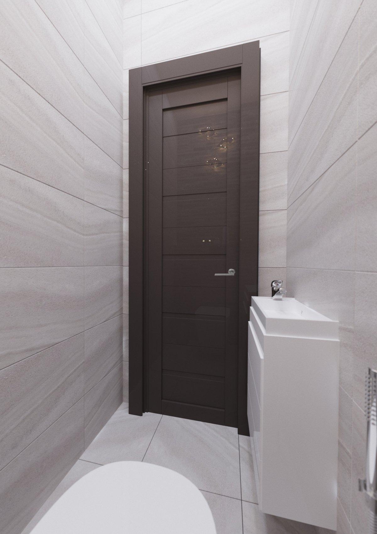 современный туалет в новостройке