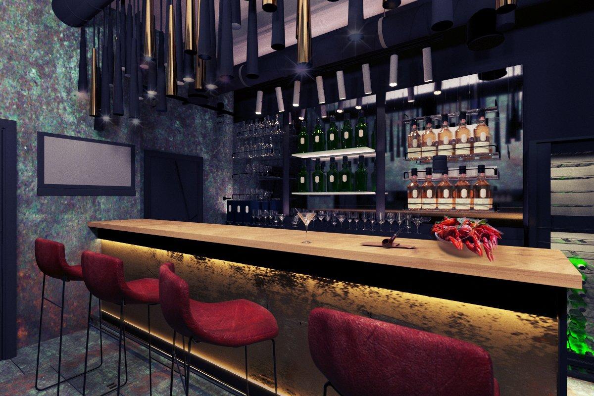 бар ночью