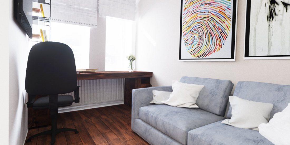 Проект квартиры пол орех