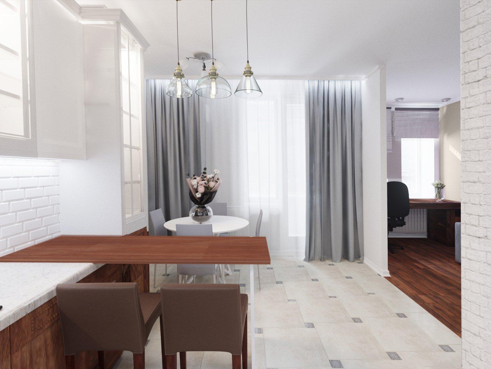 кухня рядом кабинет