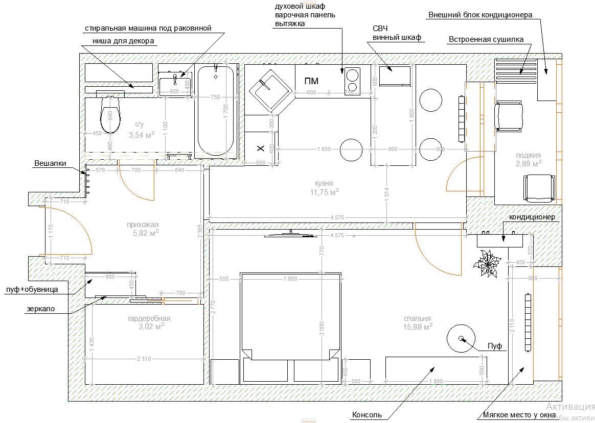 Дизайн проект планировка